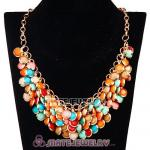 2013 Chunky Multi Layers Colorful Bubble Bib Statement Necklace