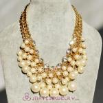 Luxury Pearl And Crystal Necklace Wholesale