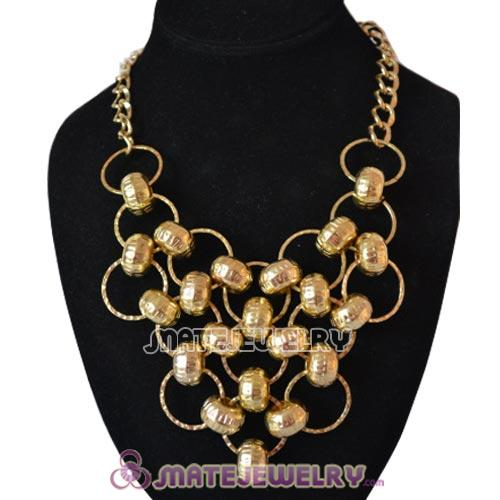 Gold Plated Beaded Bubble Bib Necklace Wholesale