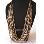 Multi Layers Beaded Bubble Bib Necklace Wholesale