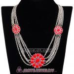 Fashion Ladies Costume Jewelry Necklace Flower Necklace