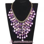 Acrylic Beaded Bubble Bib Costume Jewelry Necklace Wholesale