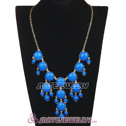 2013 Fashion Jewelry Dark Blue Mini Bubble Bib Statement Necklaces