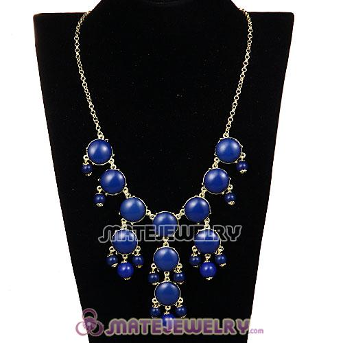 2013 Fashion Jewelry Navy Mini Bubble Bib Statement Necklaces