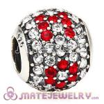 European Sterling Pave Lights MOM Charm With Austrian Crystal