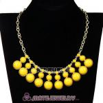 Fashion Yellow Resin Bubble Choker Bib Statement Necklace