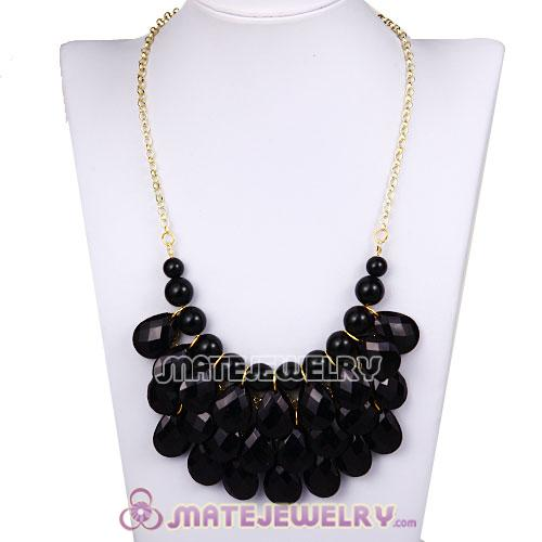 New Fashion Black Bubble Bib Statement Necklace Wholesale