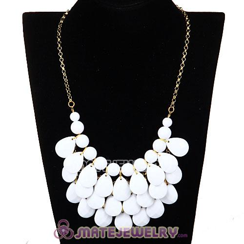 New Fashion White Bubble Bib Statement Necklace Wholesale