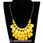 New Fashion Yellow Bubble Bib Statement Necklace Wholesale