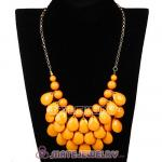 New Fashion Yolk Yellow Bubble Bib Statement Necklace Wholesale