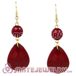 Fashion Hoop Claret Bubble Earrings Wholesale