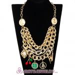 Gold Chunky Chain Charm Pendant Necklace Wholesale