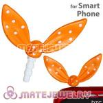 Wholesale Enamel Orange Ribbonne Earphone Jack Accessory Plug
