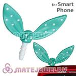 Wholesale Enamel Mint Ribbonne Earphone Jack Accessory Plug
