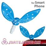 Wholesale Enamel Blue Ribbonne Earphone Jack Accessory Plug