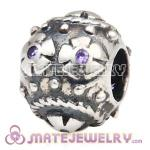 Sterling Silver Decorative Easter Egg Beads fit European Bracelet