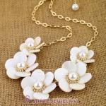 Pearl And Shell Flower Brand Necklace Wholesale
