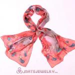 Mulberry Silk Scarves Digital Painting Gorgeous Flower Pashmina Shawls Wholesale