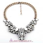 Vintage Style Brand Crystal Flower Pendant Necklace Wholesale