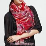 Urban Retro Wool Scarves Digital Painting modern metropolis Pashmina Shawl