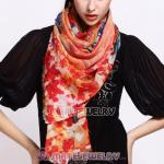 European Rural Wool Scarves Digital Painting Flowers Pashmina Shawl