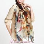Urban Retro Wool Scarves Digital Painting Abstractism wood grain Pashmina Shawl