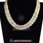 Fashion Gold Plated bling bling Crystal Pearl Necklaces Wholesale
