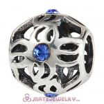 Wholesale 925 Sterling Silver Pinwheel Charm Bead With Stone