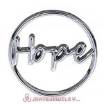 22mm Large Platinum Hope Alloy Window Plate