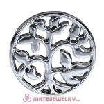 22mm Large Platinum Family Tree Alloy Window Plate