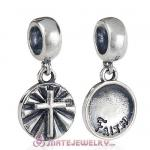 European Style Sterling Silver Beads Dangle Faith Charm