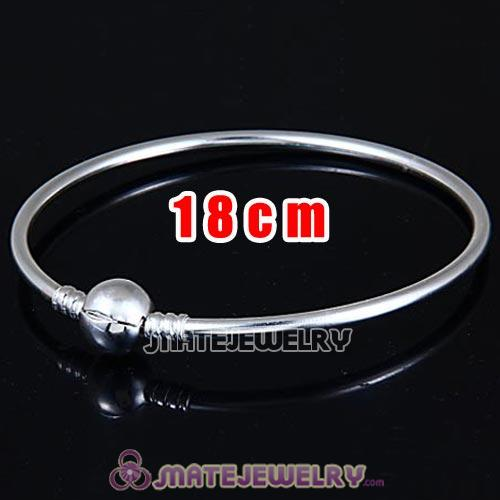18cm 925 Sterling Silver European Style Bangle with Clip