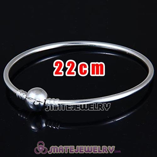 22cm 925 Sterling Silver European Style Bangle with Clip