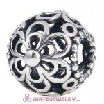 Antique 925 Sterling Silver European Flowers Charm Beads Wholesale