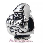 Authentic 925 sterling silver Christmas Santa Claus charm bead with Screw Thread