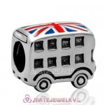 New S925 Sterling Silver London Bus Charm Bead with Screw for European Bracelet