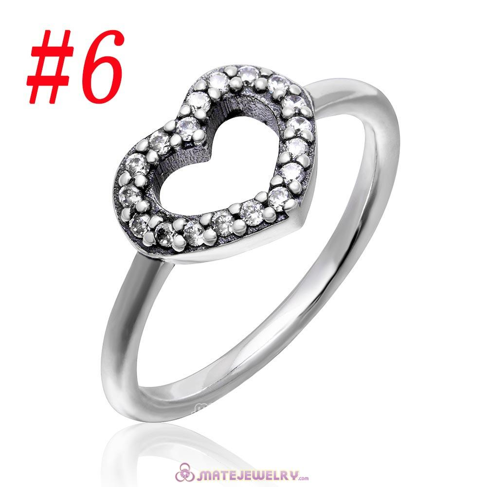 Be My Valentine Ring Sterling Silver with Clear CZ