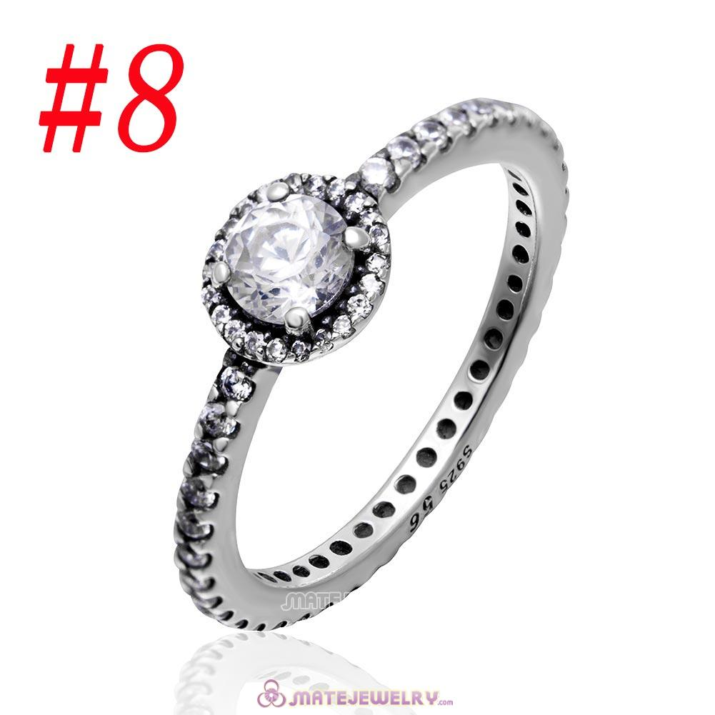 Vintage Elegance Ring Sterling Silver with Clear CZ