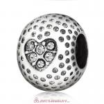 Clear Crystal Golf Ball Charm Beads