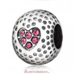 Rose Crystal Golf Ball Charm Beads