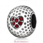 Siam Crystal Golf Ball Charm Beads