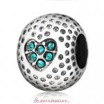 Blue Zircon Crystal Golf Ball Charm Beads