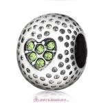 Peridot Crystal Golf Ball Charm Beads