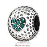 Emerald Crystal Golf Ball Charm Beads