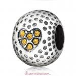 Topaz Crystal Golf Ball Charm Beads