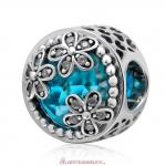 Dazzling Daisy Meadow Blue Faceted Crystal Charm