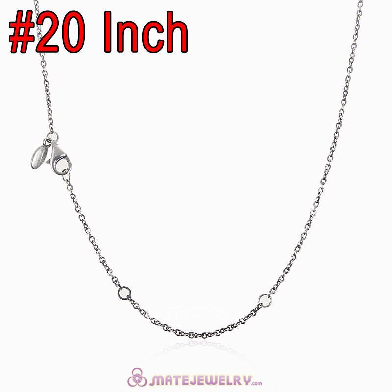 Wholesale 925 Sterling Silver Fashion Basic Necklace with Lobster Clasp
