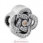 Entwined Charm 925 Sterling Silver Zircon Bead
