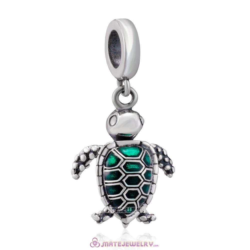 925 Sterling Silver Sea Turtle Charms Beads