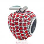 Sweet Sparkling Apple Charm with Red Crystal